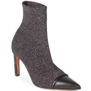 Givenchy Graphic Stretch Knit Cap-Toe Ankle Boot